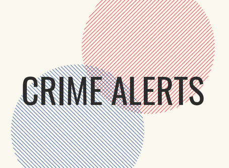 Crime Alerts for Sept 10 -17
