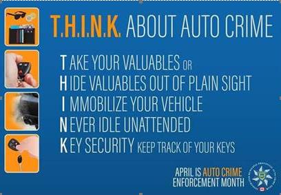 April is Auto Crime Prevention Month