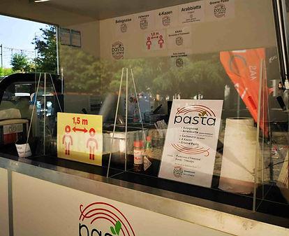 coronascherm | pasta et cetera | mobiele | pastabar | kuchscherm