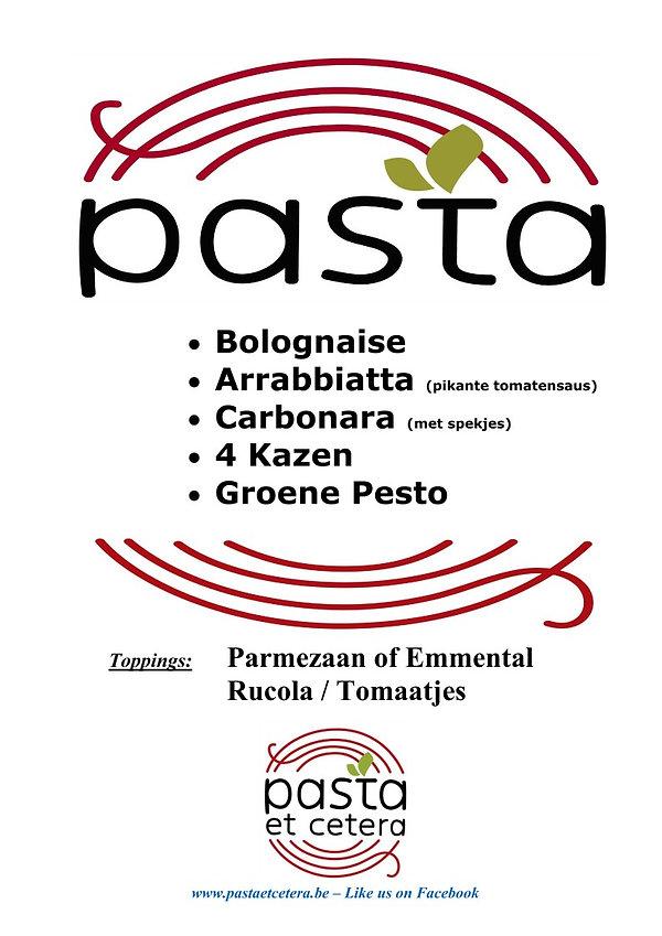 Pasta Et Cetera   overzicht pastasauzen   all you can eat  foodtruck   mobiele pastabar  