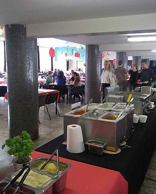 Pasta Et Cetera binnenopstelling zonder foodtruck, grote jaarlijkse eetdag sportclub