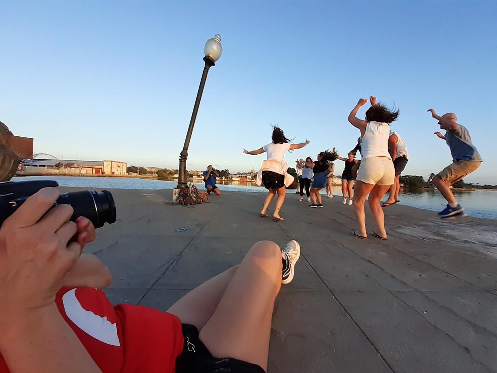 Loving life and photography at the pier at Cienfuegos, Cuba - Jan 2020