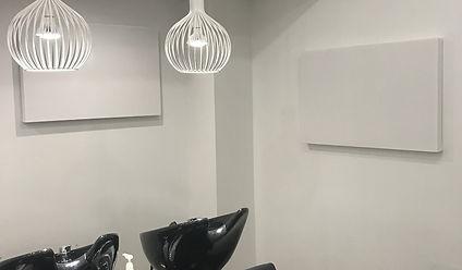 Acoustic Panel in Salon, Acoustic problem, design