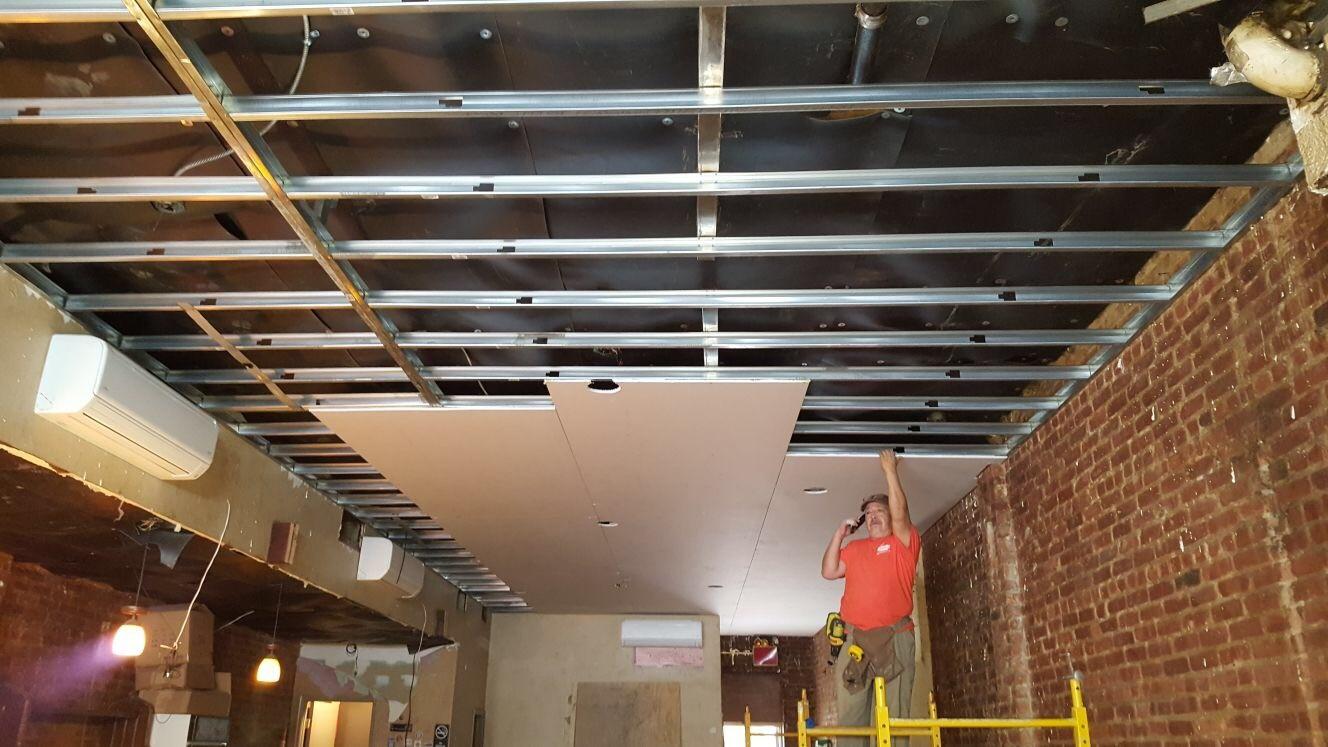 Soundproof ceiling MLV + Sheetrock