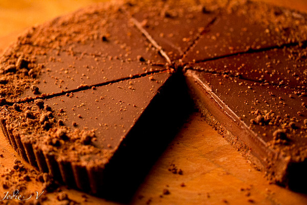 'Dirty' Dark Chocolate Tart