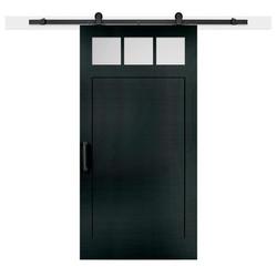 דלת אסם פאנל משולב זכוכית עליונה עם