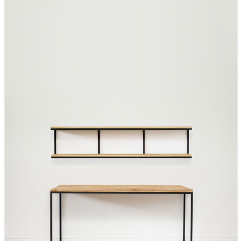 שולחן כתיבה ו יחידת מדפים עליונה בחלקים נפרדים