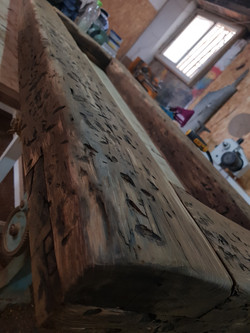 מסגרת עץ אלון עתיק