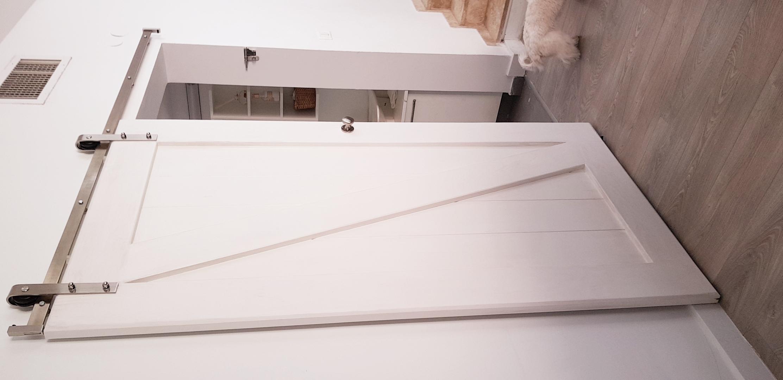 דלת אסם לבן שלג קלאסי