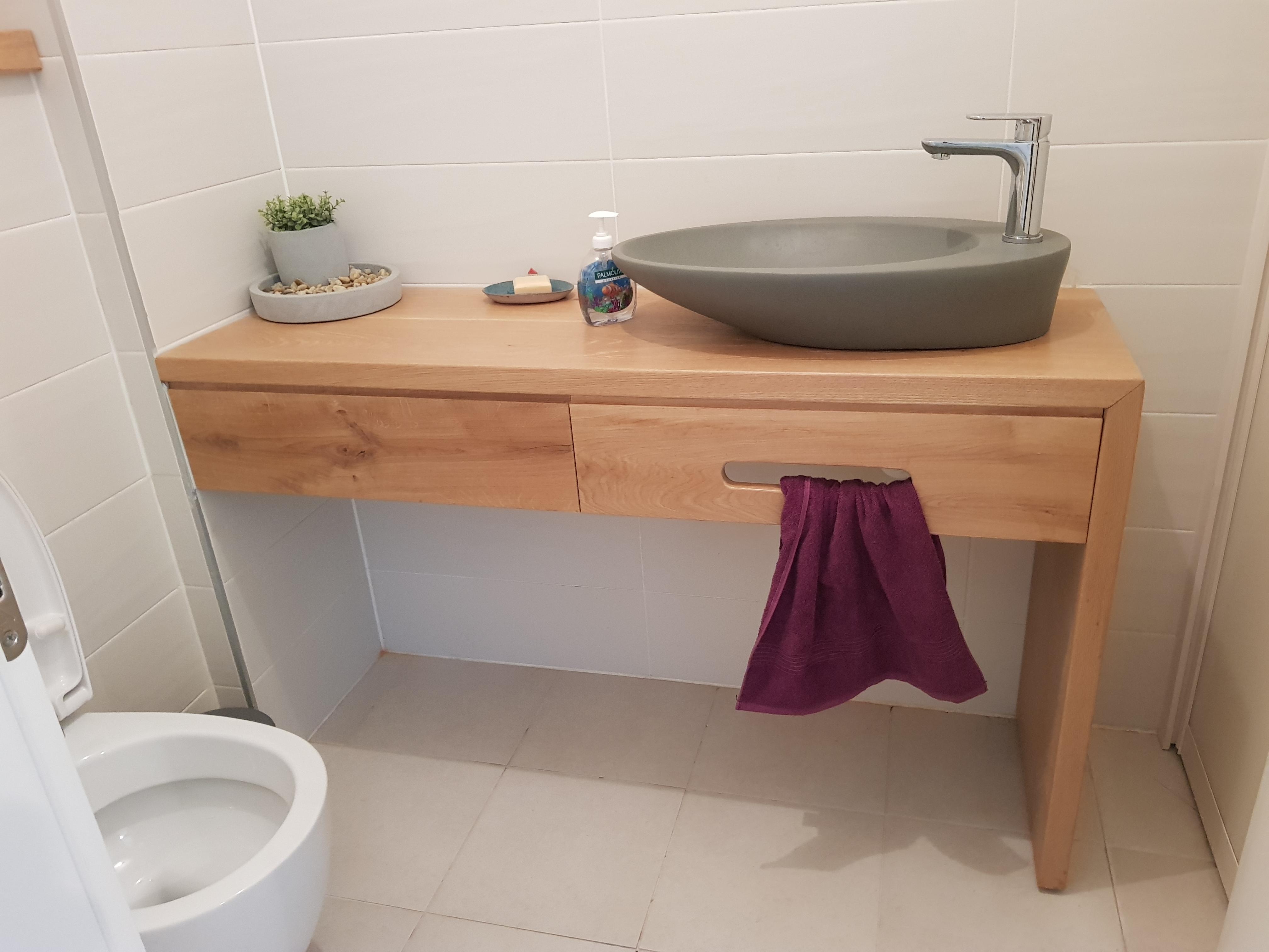 קוואנטר ארונית אמבטיה לכיור מונח