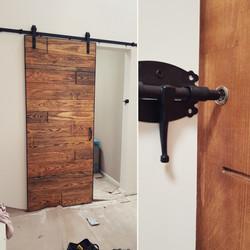דלת אסם עם נעילה
