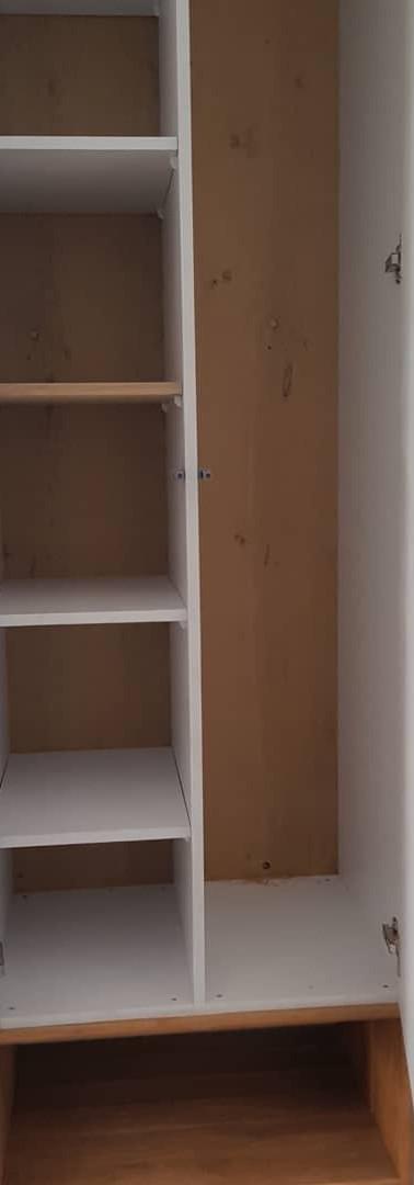 ארונית נישה משולבת קופסא פתוחה ודלתות צבע