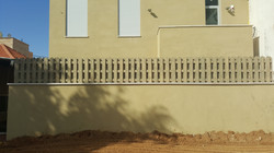 גדר עץ כפולה להגבהה
