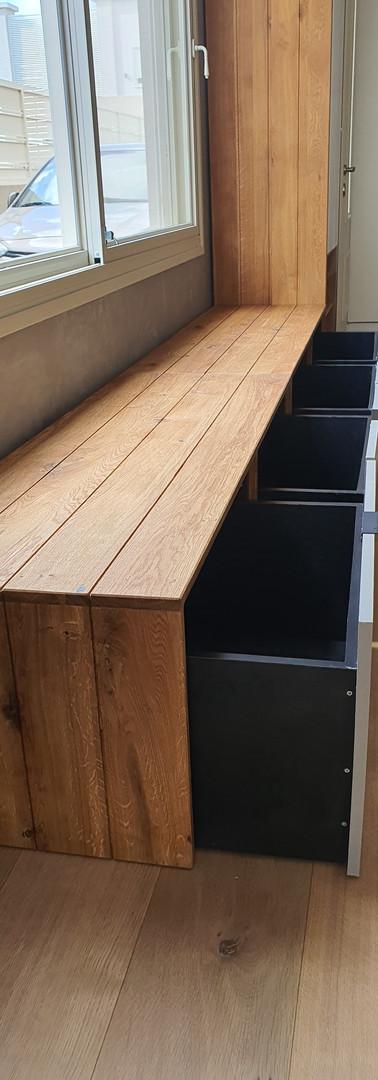 יחידת ספסל משולבת מגירות
