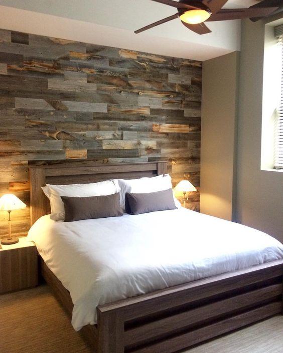 חיפוי קיר חדר שינה בעץ לבן ממוחזר 3 גוונים