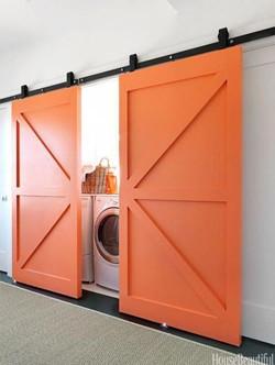 דלתות אסם פאנל חצוי גמר צבע כתום