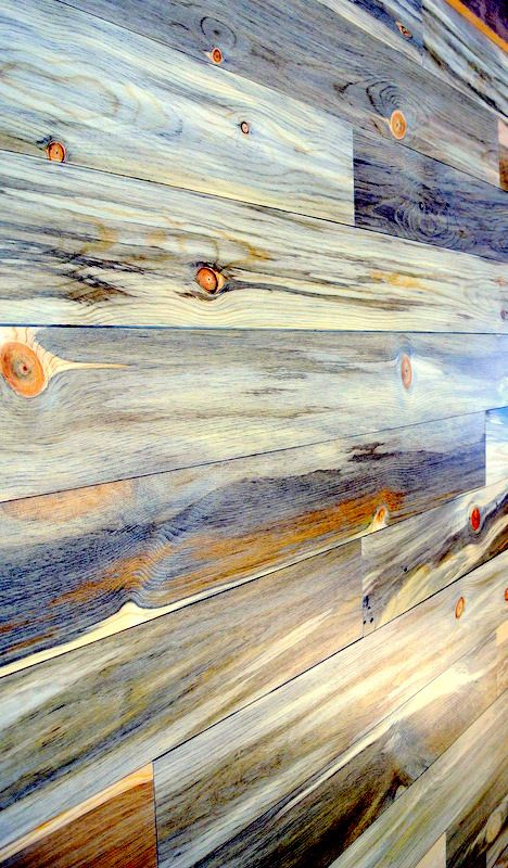 חיפוי קיר בעץ אורן מעובד