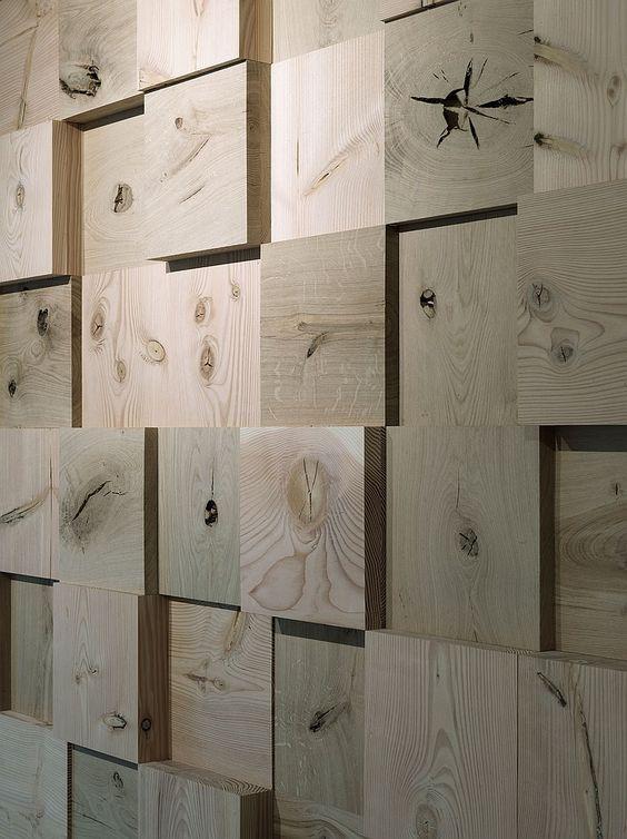 קיר תלת מימד מחתך עץ אחיד