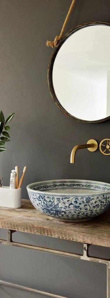 ארונית אמבטיה פתוחה לחדר רחצה אורחים