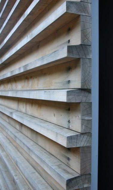 שער עץ משולב סרגלים