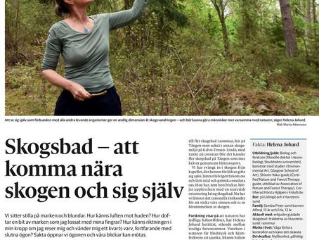 Skogsbad med Marita från Strömstads Tidning