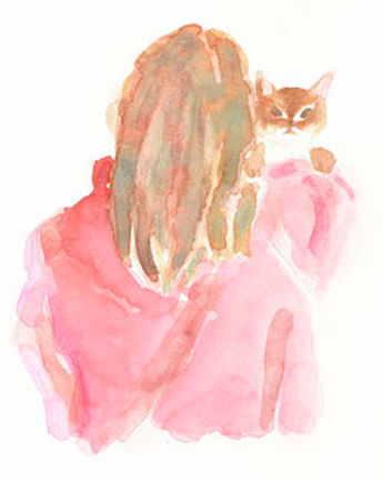 茶色い猫と少女.jpg