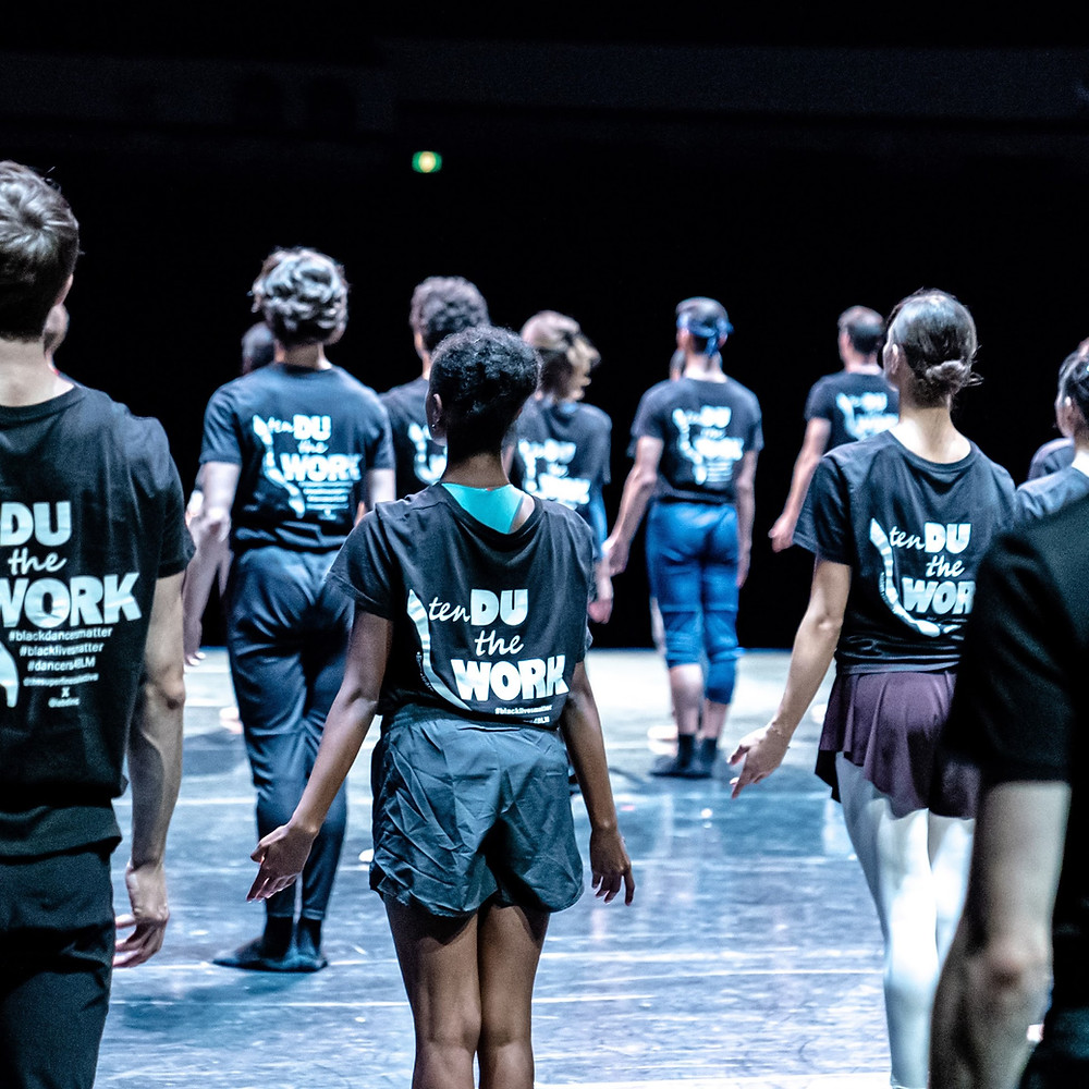 tenDU the Work tshirts worn by Het National Ballet Dancers - Black Voices in Dance Blog