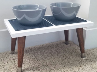 Mid-Century Style DIY Elevated Dog Bowls