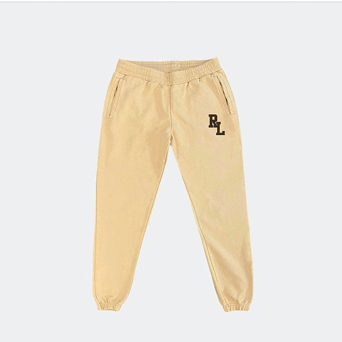 RL SAND/BROWN FRENCH TERRY SWEATPANTS
