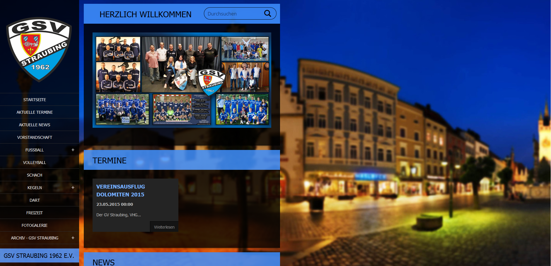 GSV-Straubing-Homepage