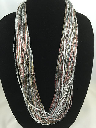 Merlot Shimmer Necklace by Artisan Jane Arey
