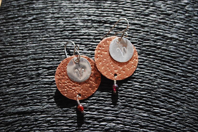 Aries Zodiac Earrings