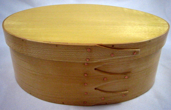 #5 Maple Oval Storage Box by Artisan Duane Butler