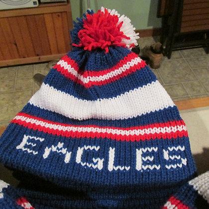 Messalonskee Eagles Handknit Hat by Artisan Keepsake NogginKnits