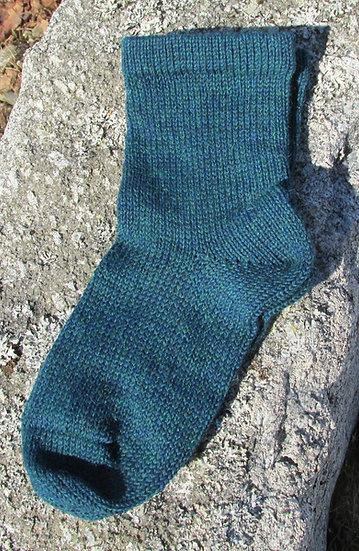 Oceanic Mix Alpaca/Wool Handknit Socks