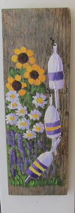 Beauty of Life Hand Painted on Driftwood by Artisan Candace McKellar