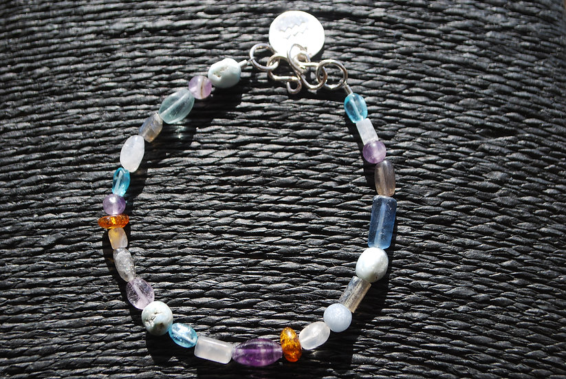 Aquarius Multi Stone Bracelet