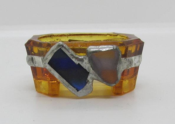 Embellished Ring holder with Seaglass by Artisan Karen Lannon