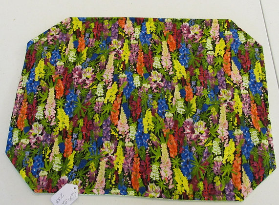 Colorful Lupine Placemats by Artisan Pillow World