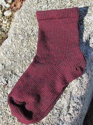 Garnet Mix Alpaca/Wool Handknit Socks