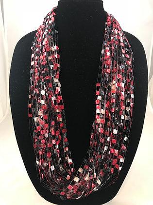 Classic Plaid Jewel Necklace by Artisan Jane Arey