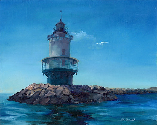 Spring Point Ledge Lighthouse by Heather Roselle Barter