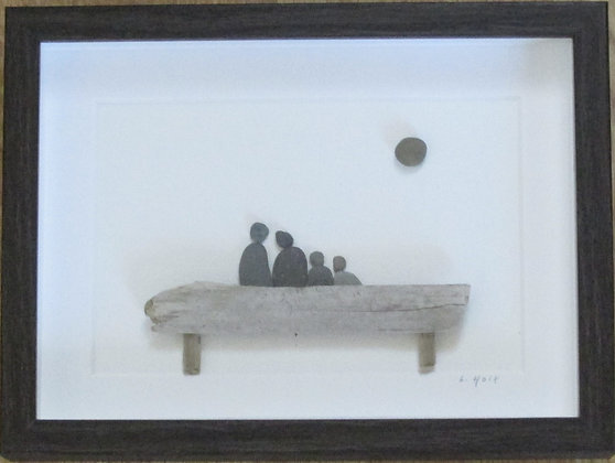 Quality Time Together,   Framed Wall Hanging by Artisan Lisa