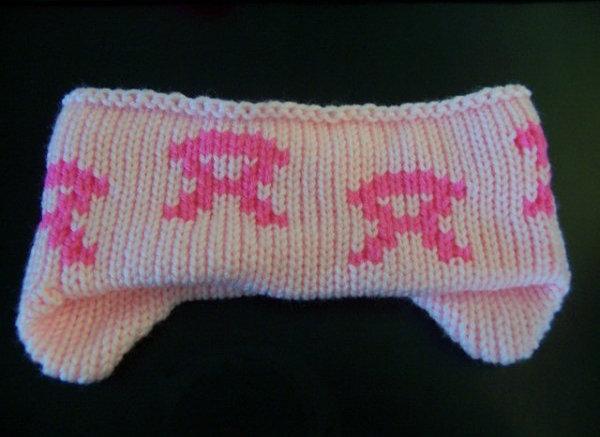 Knit Headband Light pink acrylic