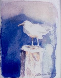 Seagull, Ceramic Tile by Artisan Dianne Horton