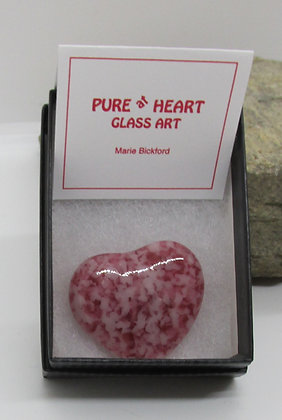 Mini Heart Magnet by Artisan Marie Bickford