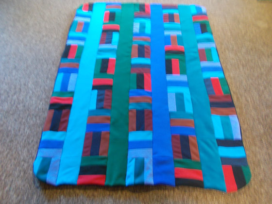 Post and Rail Fleece Quilt by Artisan Susan Hoffman