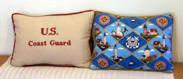 We Salute US Coast Guard by Artisan Pillow World