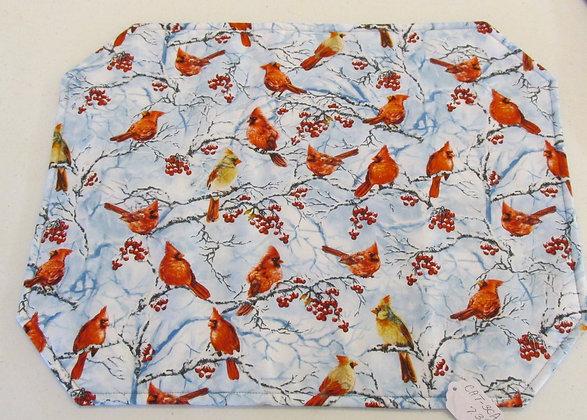 Cardinal  Placemats by Artisan Pillow World