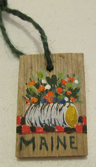 Hand painted Holiday Log ornament